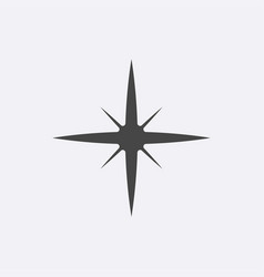 gray star icon isolated on background modern simp vector image
