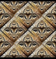 greek textured geometric seamless pattern vector image