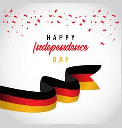 Happy belgium independent day template design vector