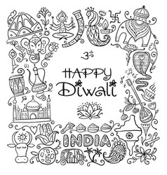Indian diwali festival holiday sketch for your vector