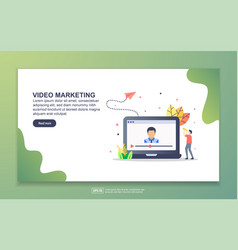 landing page template video marketing modern vector image