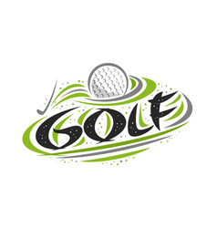 logo for golf sport vector image