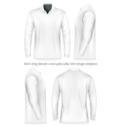 Men long sleeve polo shirt vector image