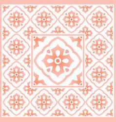 Mexican talavera vintage tile pattern italain vector