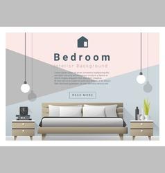 Modern bedroom background Interior design 4 vector image