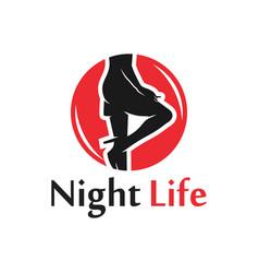 modern night social world logo vector image