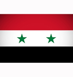 national flag syria vector image