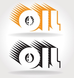 oil logo template vector image