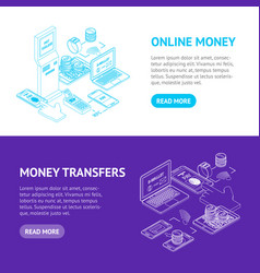 online payments signs 3d banner horizontal set vector image