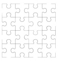 ornament puzzle vector image