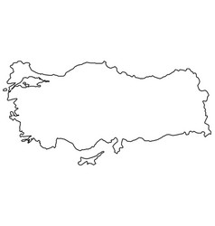 outline country state of turkey border vector image