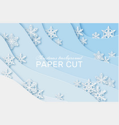 paper snowflakes background christmas card with vector image