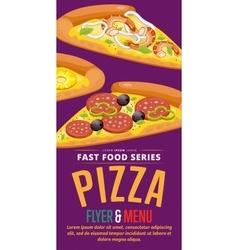 Pizza sale flyer vector