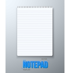 Realistic Notepad Office Equipment White vector image