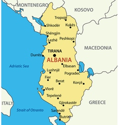 Republic of Albania - map vector image