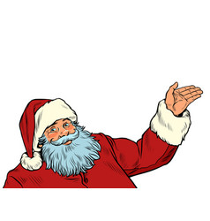 Santa claus character isolate on a white vector