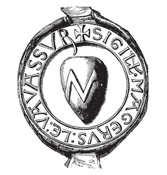 Seal of vavassour have the heraldic seal vintage vector