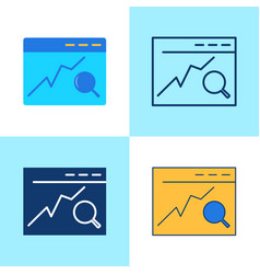 search engine optimization icon set in flat and vector image