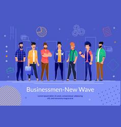 Self-employed businessman flat poster vector