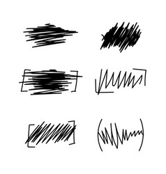 set of hand drawn wave distortion vector image