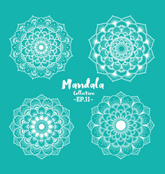 Set of mandala decorative and ornamental design vector