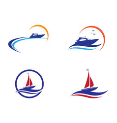 ship logo template icon design vector image