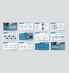 Slide presentation template for use in annual vector