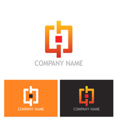 square circle logo vector image