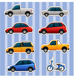 sticker design for different kinds of vehicles vector image