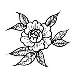 tattoo rose flower art vector image