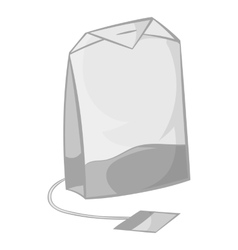 Teabag icon in black monochrome style vector image