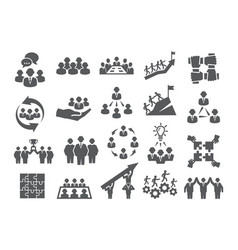team work icons vector image