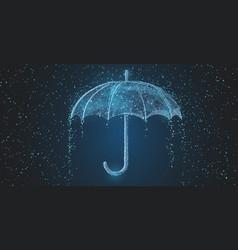 umbrella rain drops protection season vector image