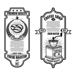 vintage coffee shop flyer templates design vector image