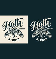 vintage tattoo studio badge vector image