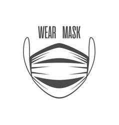 Wear face mask vector