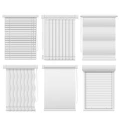 window blinds horizontal vertical closed and vector image