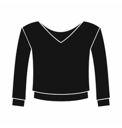 Womens pullover icon simple style vector