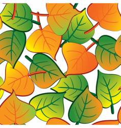 leaf seamless background vector image vector image