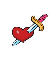 pop art style heart sticker vector image