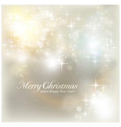 Silver Christmas lights vector image vector image