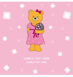 bear flower vector image