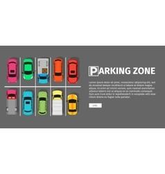 Parking Zone Top View vector image vector image