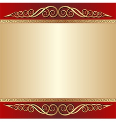 red and gold background vector image