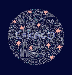 chicago concept vector image vector image