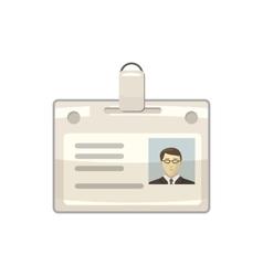 Identification card icon cartoon style vector image