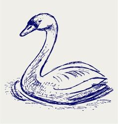 Swan sketch vector image vector image