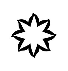 black thick contour with flower icon vector image vector image