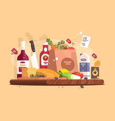 food and ingredients for cooking vector image