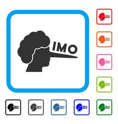 Imo lier framed icon vector